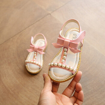 Girls Sandals 2018 Summer New Children Shoes Fashion Princess Sandals Pearl Beading Child Sandals Baby Sandals Beach Sheos
