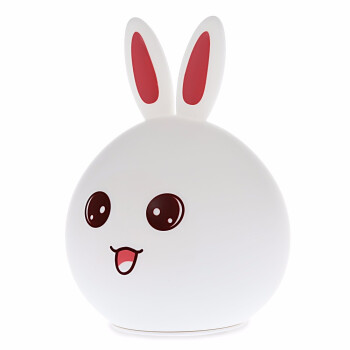 USB Lovely Rabbit Silicone LED Night Light Handheld size&standing design Bouncy design 7 colors changeable warm white light