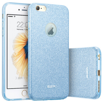 ESR iPhone6 ​​Plus 6s Plus Mobile Phone Cases Cases Apple 6S Plus Mobile Phone Cases Shimmer Protection Shoulder Protection Soft Shell Makeup Series Ice Blue