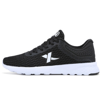 XTEP sports shoes couple men&39s section net breathable simple breathable comfortable men running shoes casual shoes black 44 yards