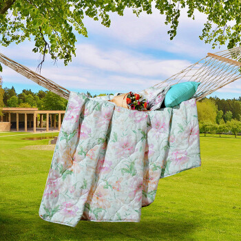Fu&39anna FUANNA can be washed summer air-conditioned by summer cool was double summer printed summer breeze breeze 15 meters bed 203cm 229cm light green