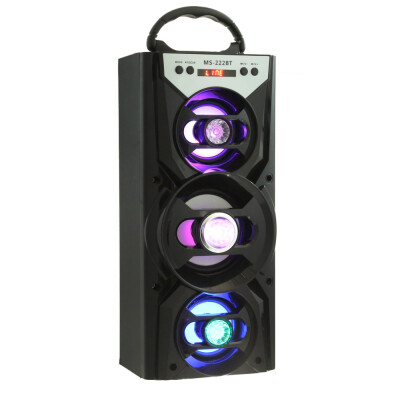 MS - 222BT Bluetooth Speaker with AUX USB TF Card Slot
