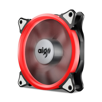 Aigo Halo Yellow LED Ring Fan 120mm 12cm PC CPU Computer Case Cooling Neon Quite Clear Fan Mod 4 Pin3 Pin