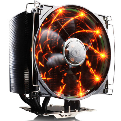 Overclocking three (PCCOOLER) East China Sea X4 CPU radiator (multi-platform / support AM4 / 1151/4 heat pipe / PWM temperature control / 12CM silent fan / with silicone grease)