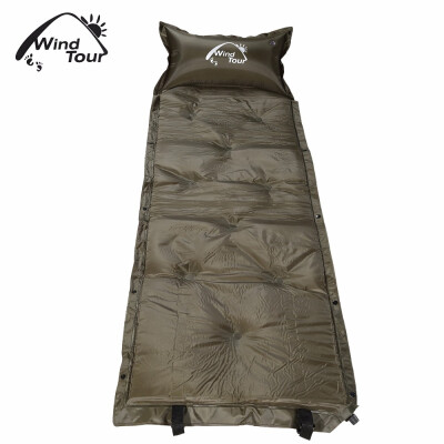 WIND TOUR Waterproof Single Automatic Inflatable Picnic Mat Moisture-proof Pad with Pillow warm&breathable