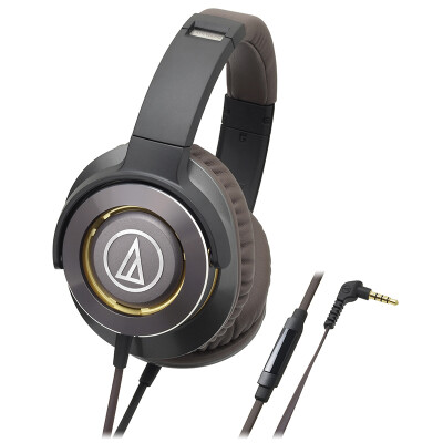 Audio-Technica ATH-WS770iS Portable Smartphone Headset Gold Brown
