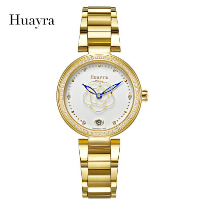 Brand Luxury Huayra Fashion Creative Flower Second Hands Waterproof Steel Automatic Ladies watch HY1102