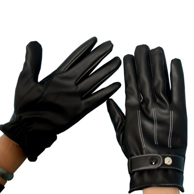 Jingdong supermarket set warm touch screen gloves men&39s cycling electric car motorcycle winter warm plus velvet leather gloves black water wash