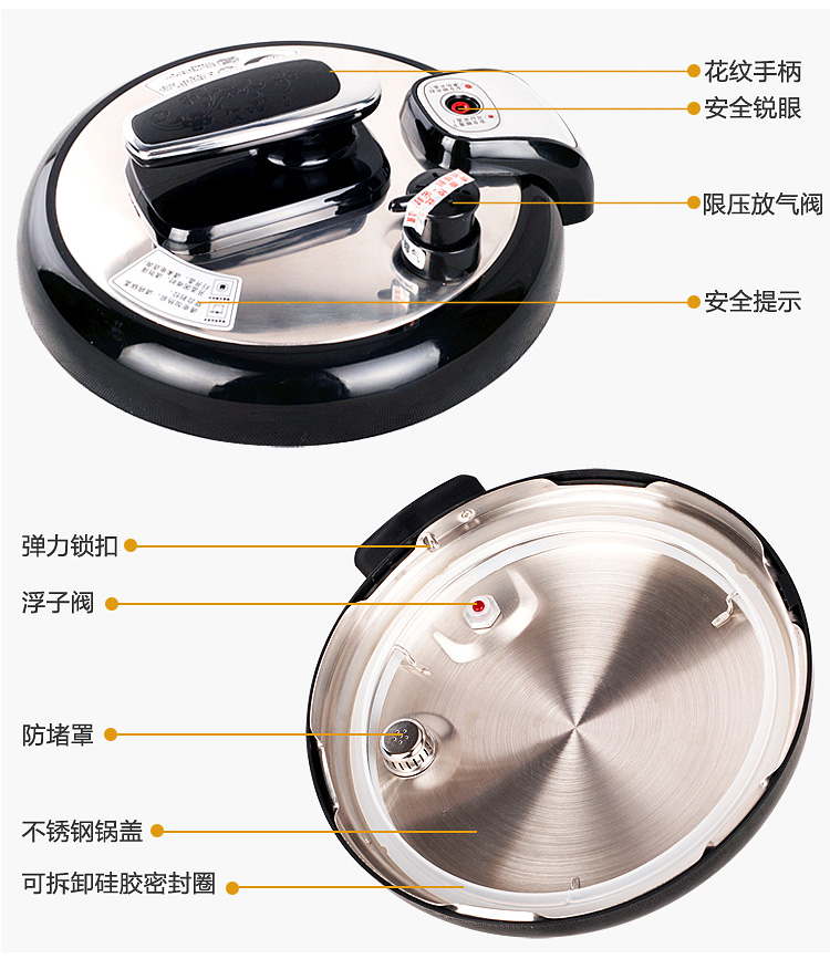 Longeen Dragon (Longde) YL-S50H 5L PC Edition appointment electric pressure cooker