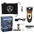 FLYCO FS357 Rechargeable Rotary Electric Shaver Razor with 3D Floating Structure