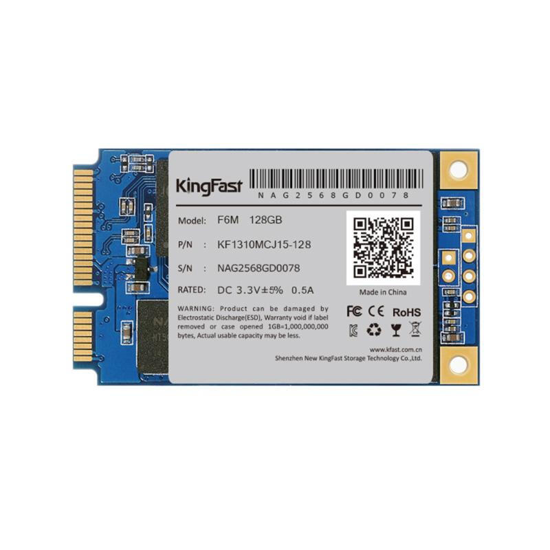 "Kingfast F6M 60GB/128GB mSATA3.0 SSD Internal Solid Hard Drive 1.3"" 3.5mm"