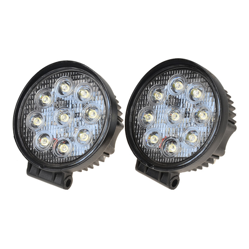 "KAWELL 2 pack LED Work Light 4.2"" Inch 27W 9-32V Spot Lamp for Motorcycle Tractor Truck Trailer SUV Off roads Boat 4WD 4x4"