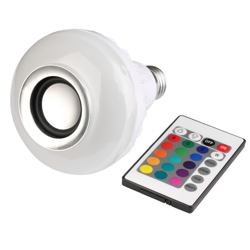 Smart Remote Control Bluetooth LED Bulb Music Speaker RGB Night Light Lamp