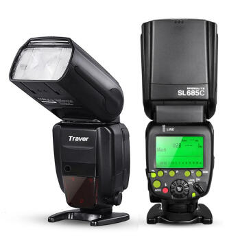 Travor Professional E-TTL II Master/Slave *High Speed Sync* Fast Recycle Time Speedlite Flash Full Kit for Canon