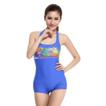 4a9a5d9d192 British hair (YINGFA) casual conjoined angle bathing suit y1383-2 Blue M