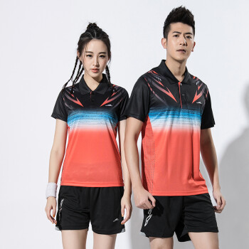 a8182974a 2018 Summer New Badminton suit set men and women couple quick-drying jersey  table tennis suit set short sleeve T-shirt shorts skirts two set sports  match ...