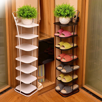 4e7699019c9d Modern simple shoes rack multilayer simple economy household living room  space multi-functional storage Iron shoes cabinet Eight-layer single net  Black