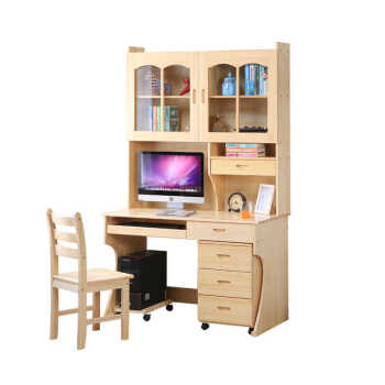 Solid Wood Desk Combination Writing Simple Home Computer Student Desktop 80x60 Plus