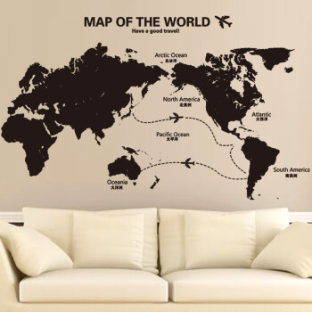 Where ya space company culture decoration school classroom world map where ya space company culture decoration school classroom world map wall stickers office oversized wall stickers 03 connection map extra large shop gumiabroncs Gallery