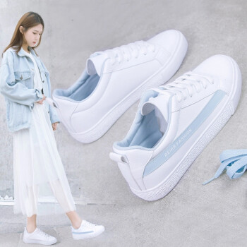 winter Casual shoes female shoes students small white shoes female thick  bottom muffin Korean Style trend college wind small fresh flat Sneaker  female ... e85c3bc82a0