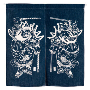 Calico Art Curtain Country Classic Ethnic Partition Curtains In Blue Chinese  Blue And White Porcelain Kitchen Porch Curtain Door Curtain 85cmX120cm    Shop ...