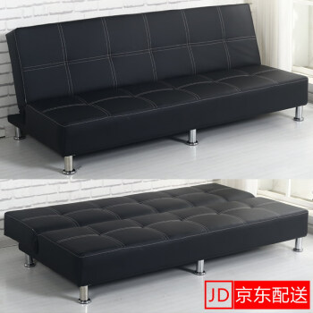 BEIJING East Distribution Multi Functional Folding Lazy Sofa Bed 1.2 Meters  1.5 Meters 1.78 M Skin Simple Small Huxing Living Room Sofa Three Person  Black ...