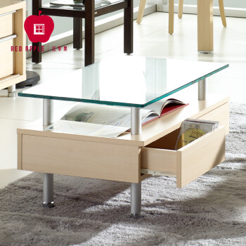 Classic Red Apple Furniture Simple Modern Stylish Living Room Glass  Rectangular Corner Creative Tea Table R186 32 Maple Wood Grain  800*500*435mm_ Beijing ...