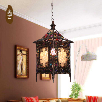 AO Lighting Mediterranean single head bar l& restaurant Chandelier Tea Bar Café Internet cafes Internet café pendant l& - Shop @ ezbuy Singapore & AO Lighting Mediterranean single head bar lamp restaurant Chandelier ...