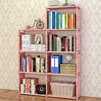 Ark People Fashion Simple Bookshelf Free Combination Shelf Practical Shelves Bookcase Sj0405 Lucky Cherry