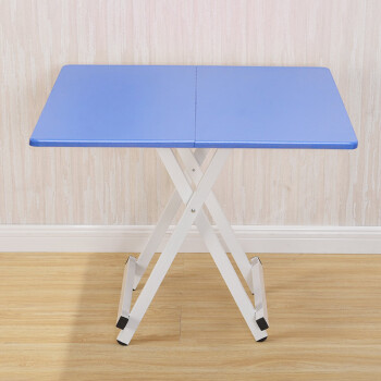 Yue With New Folding Table Steel Table Tables Home Easy Portable Table  Student Dormitory Desk Small Tables 60 Blue Folding Square