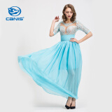 Dresses-CANIS@Women's Sexy/Lace/Maxi ? Length Sleeve Maxi Dress (Chiffon/Lace) on JD