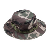 Men's Accessories-Fishing Hiking Boonie Snap Brim Military Bucket Sun Hat Cap Woodland Camo on JD