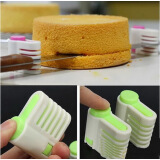 Kitchen & Dining Room-5 Layers Kitchen DIY Cake Bread Cutter Leveler Slicer Cutting Fixator Tools on JD