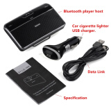 Phone Accessories-Universal Car Kit Visor sun Clip Hands free Multipoint Wireless Bluetooth 4.0 Speakerphone Speaker phone on JD