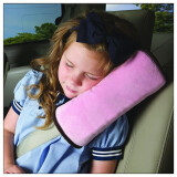 Home textiles-Pink Baby Car Auto Safety Seat Belt Harness Shoulder Pad Cover Cushion Support Pillow on JD