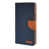 Phone Accessories-MOONCASE Galaxy Note 4 , Leather Flip Wallet Card Holder Pouch Stand Back Case Cover for Samsung Galaxy Note 4 Sapphire on JD