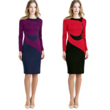 Dresses-Kenancy Long Sleeve Women Autumn Winter Pencil Dress on JD