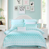Bedding & Bath-MERCURY cotton bed set/bed kit (duvet cover/bedsheet/pillowcase) 1.8m bed on JD