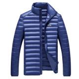 Jackets & Coats-Antarctic men 90 white duck velvet collar collar warm down jacket Y1611 sapphire blue XL on JD
