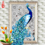 Картины из кристаллов-YGS-105 DIY 5D Diamonds Embroidery Diamond Mosaic New Peacock Soul Love Round Diamond Painting Cross Stitch Kits Home Decoration on JD