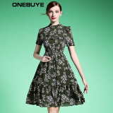 Dresses-ONEBUYE Printed chiffon dress with short sleeves on JD