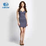 Dresses-CANIS@Fashion Women's Summer Casual Sleeveless Dot Pattern Short Mini Dress on JD