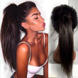 N.L.W. 10A Brazilian virgin human hair Full lace wigs Silk straight Glueless wigs with baby hair for black women