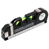 Forgestar Multipurpose Line Laser Level Horizon Vertical Measure Tape Adjusted Standard and Metric Ruler 8FT/2.5M Aligner Bubbles