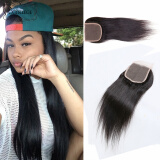 Fashion 8a Peruvian Straight Closure CCollege Hair Company Peruvian Closure Human Hair Lace Closure Bleached Knots Free Middle 3