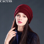 Other Accessories-CACUSS wool hat men and women knit hat wool cap fashion warm tide cap wine red Z0138 on JD