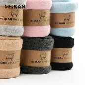Women's Socks-MEIKAN Women Wool Socks Winter Warm Terry Socks 4Pair/lot on JD
