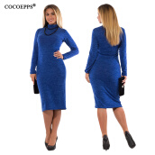 Casual-COCOEPPS 5XL 6XL Large Size 2017 Autumn Winter women Dresses Big Size Casual Long Sleeve Dress Plus Size Women Clothing vestidos on JD