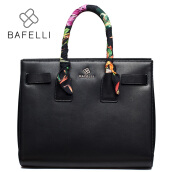 Briefcases-BAFELLI new arrival ribbons genuine leather handbag dress cow leather briefcases bag saffiano bolsa feminina black women handbag on JD