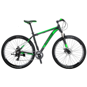 Bikes-EUROBIKE Mountain Bike 21 Speed 9 Inches Wheels Dual Disc Brake Aluminum Frame MTB Bicycle on JD